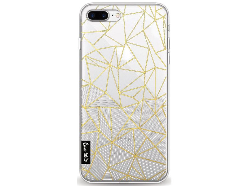 Casetastic Softcover Apple iPhone 8 Plus - Abstraction Half Half Transparent