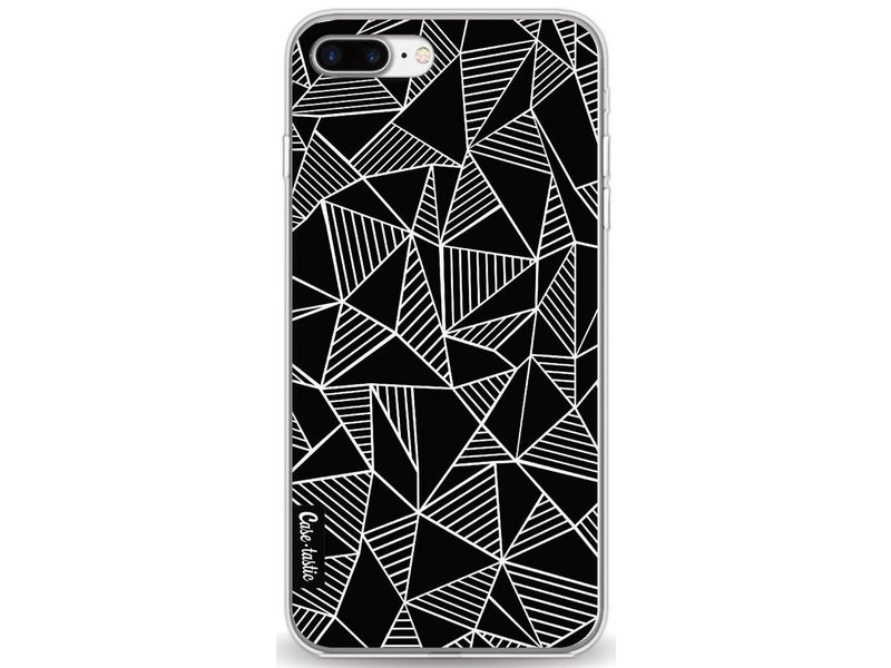 Casetastic Softcover Apple iPhone 8 Plus - Abstraction Lines Black