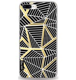 Casetastic Softcover Apple iPhone 8 Plus - Abstraction Lines Black Gold