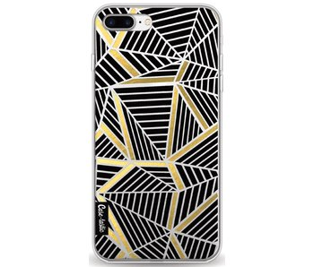 Abstraction Lines Black Gold Transparent - Apple iPhone 8 Plus