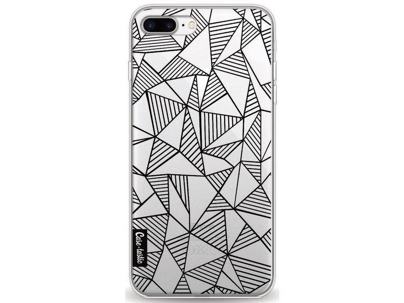 Casetastic Softcover Apple iPhone 8 Plus - Abstraction Lines Black Transparent