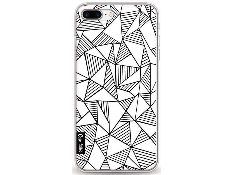 Casetastic Softcover Apple iPhone 8 Plus - Abstraction Lines White