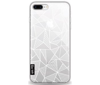 Abstraction Lines White Transparent - Apple iPhone 8 Plus