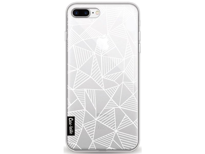 Casetastic Softcover Apple iPhone 8 Plus - Abstraction Lines White Transparent