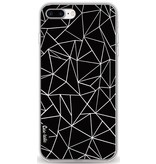 Casetastic Softcover Apple iPhone 8 Plus - Abstraction Outline Black