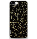 Casetastic Softcover Apple iPhone 8 Plus - Abstraction Outline Gold
