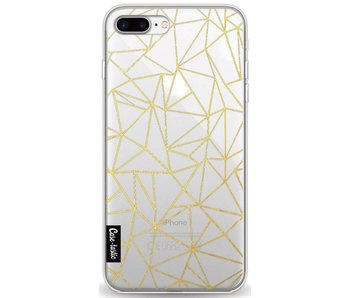 Abstraction Outline Gold Transparent - Apple iPhone 8 Plus
