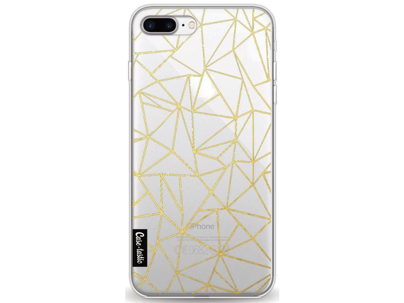 Casetastic Softcover Apple iPhone 8 Plus - Abstraction Outline Gold Transparent