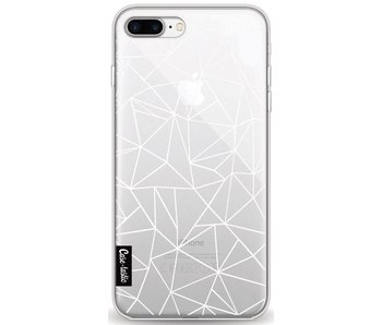 Abstraction Outline White Transparent - Apple iPhone 8 Plus
