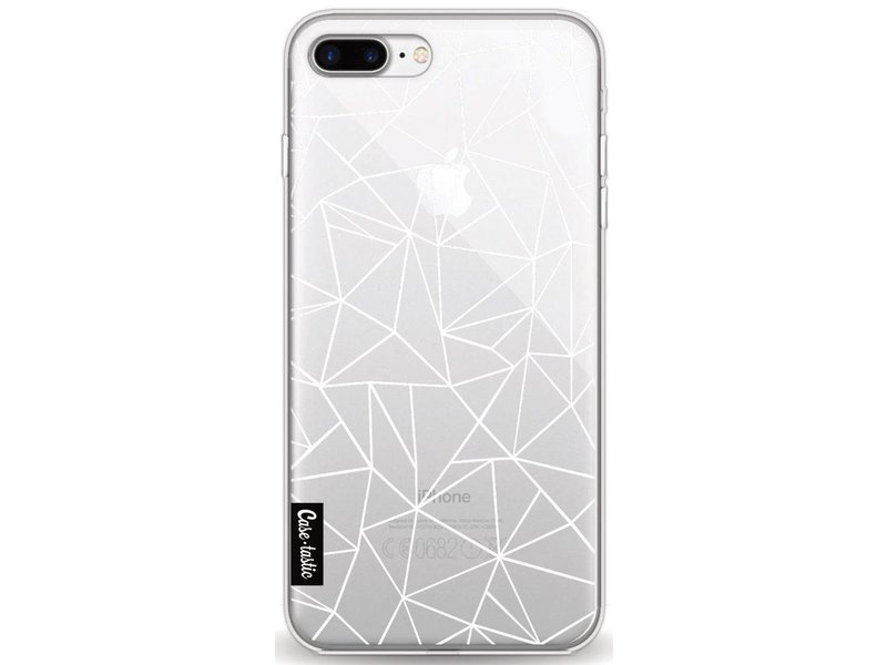 Casetastic Softcover Apple iPhone 8 Plus - Abstraction Outline White Transparent