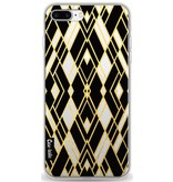 Casetastic Softcover Apple iPhone 8 Plus - Art Deco Gold Black Transparent
