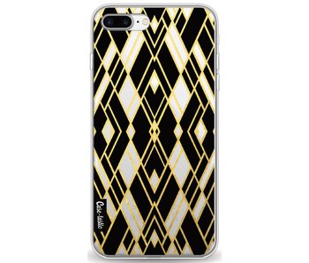 Art Deco Gold Black Transparent - Apple iPhone 8 Plus