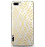 Casetastic Softcover Apple iPhone 8 Plus - Art Deco Gold Transparent