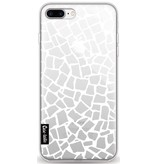 Casetastic Softcover Apple iPhone 8 Plus - British Mosaic White Transparent