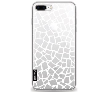 British Mosaic White Transparent - Apple iPhone 8 Plus