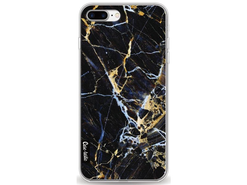 Casetastic Softcover Apple iPhone 8 Plus - Black Gold Marble