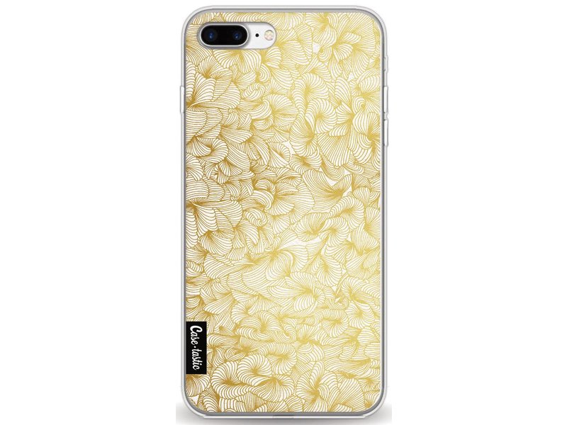 Casetastic Softcover Apple iPhone 8 Plus - Abstract Pattern Gold