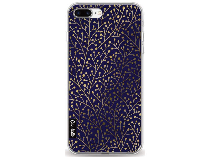 Casetastic Softcover Apple iPhone 8 Plus - Berry Branches Navy Gold