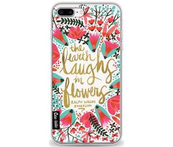 Laughs Flowers Pink - Apple iPhone 8 Plus