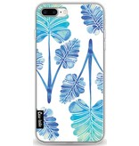 Casetastic Softcover Apple iPhone 8 Plus - Blue Ombre Palm Leaf Trifecta Pattern
