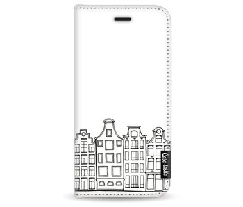 Amsterdam Canal Houses - Wallet Case White Apple iPhone 7