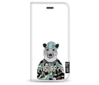 Surf Bear - Wallet Case White Apple iPhone 7