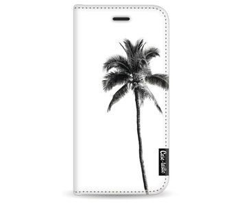 Palm Tree Transparent - Wallet Case White Apple iPhone 7