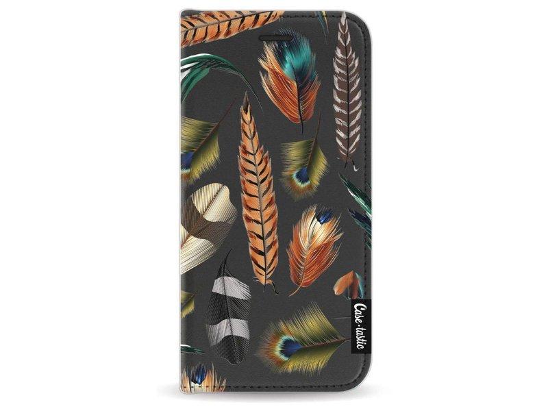 Casetastic Wallet Case Black Apple iPhone 7 - Feathers Multi