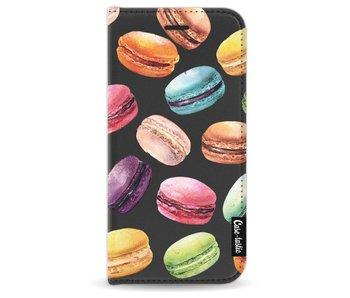 Macaron Mania - Wallet Case Black Apple iPhone 7/8