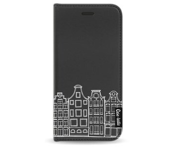 Amsterdam Canal Houses White - Wallet Case Black Apple iPhone 7