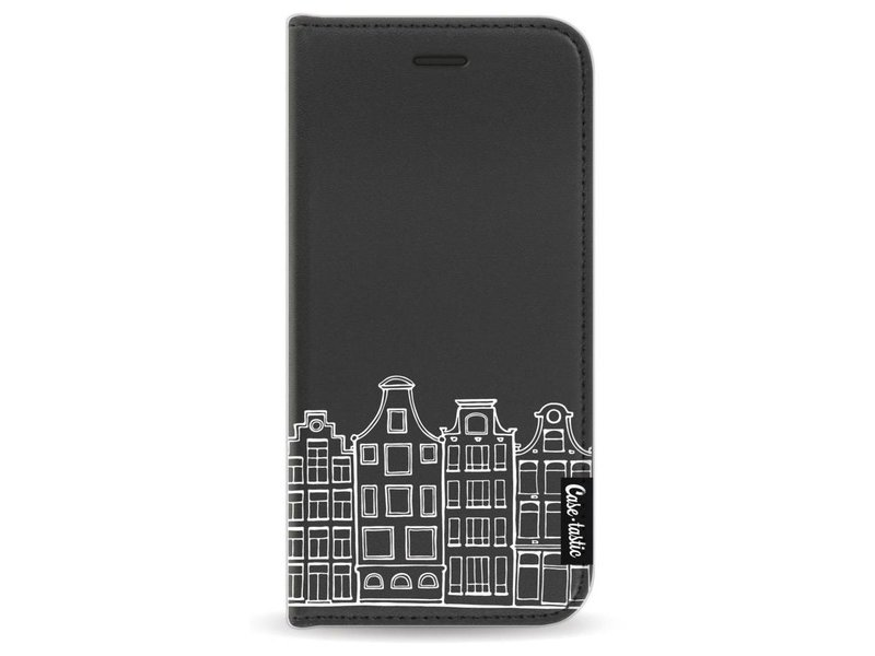 Casetastic Wallet Case Black Apple iPhone 7 - Amsterdam Canal Houses White
