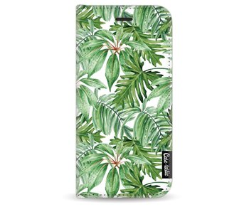Transparent Leaves - Wallet Case White Apple iPhone 7/8