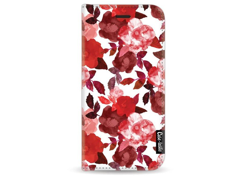 Casetastic Wallet Case White Apple iPhone 7 - Royal Flowers Red
