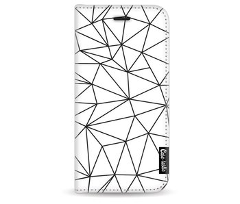 So Many Lines! Black - Wallet Case White Apple iPhone 7/8