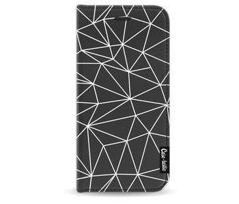 So Many Lines! White - Wallet Case Black Apple iPhone 7