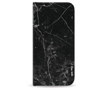 Black Marble - Wallet Case Black Apple iPhone 7/8