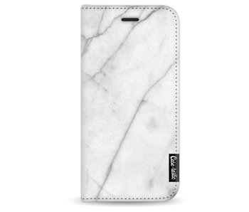 White Marble - Wallet Case White Apple iPhone 7