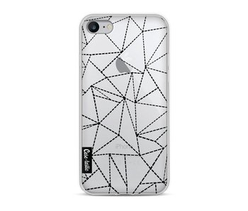 Abstract Dotted Lines Black Transparent - Apple iPhone 8