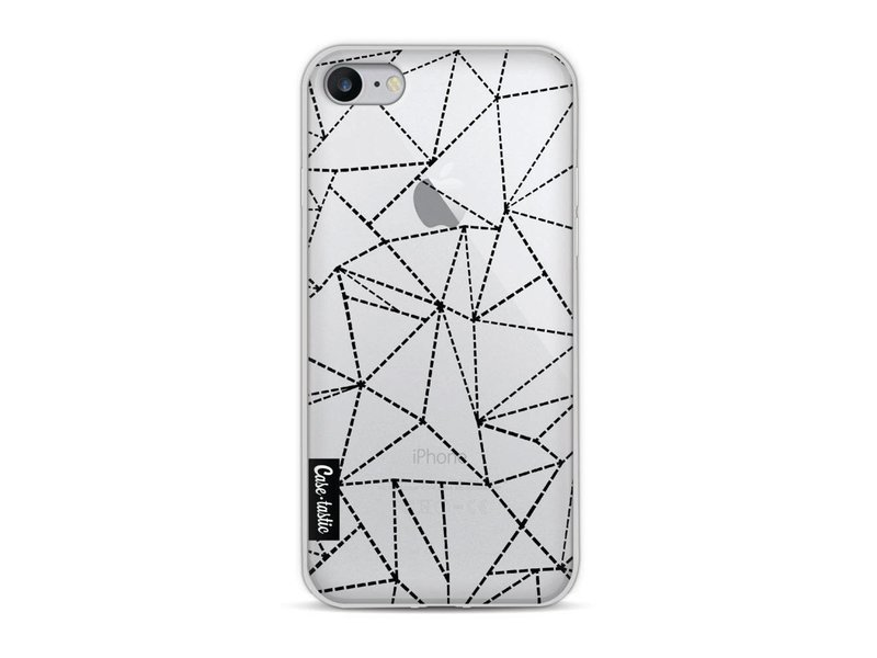 Casetastic Softcover Apple iPhone 8 - Abstract Dotted Lines Black Transparent