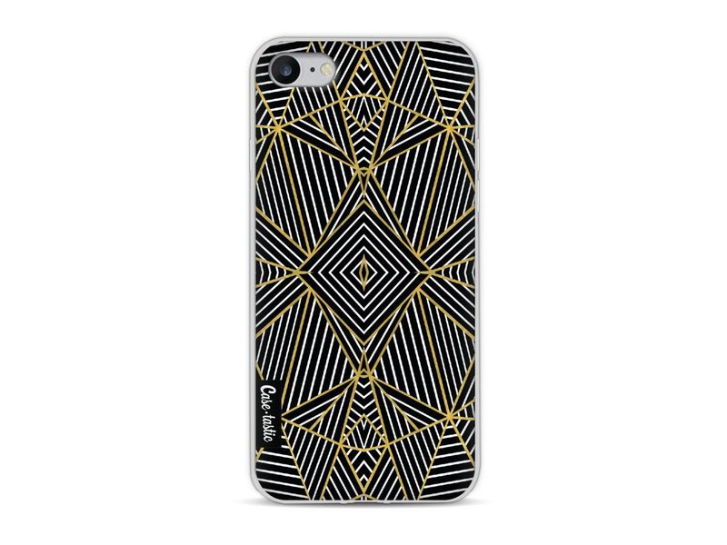Casetastic Softcover Apple iPhone 8 - Abstraction Half Gold
