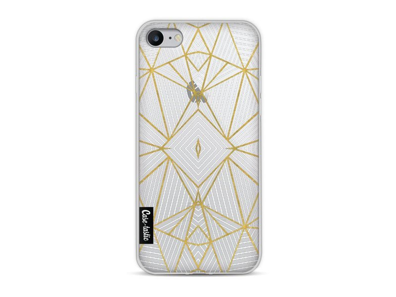 Casetastic Softcover Apple iPhone 8 - Abstraction Half Gold Transparent