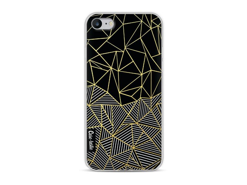 Casetastic Softcover Apple iPhone 8 - Abstraction Half Half Gold