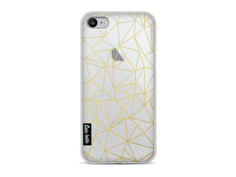 Casetastic Softcover Apple iPhone 8 - Abstraction Half Half Transparent