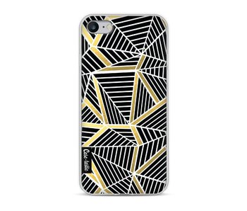 Abstraction Lines Black Gold - Apple iPhone 8