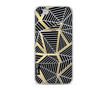 Abstraction Lines Black Gold Transparent - Apple iPhone 8