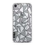 Casetastic Softcover Apple iPhone 8 - Abstraction Lines Black Transparent