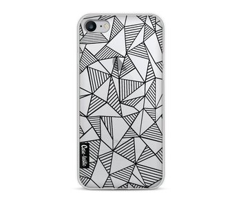 Abstraction Lines Black Transparent - Apple iPhone 8
