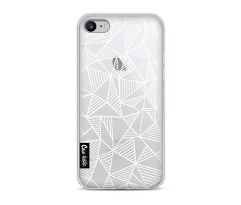 Abstraction Lines White Transparent - Apple iPhone 8