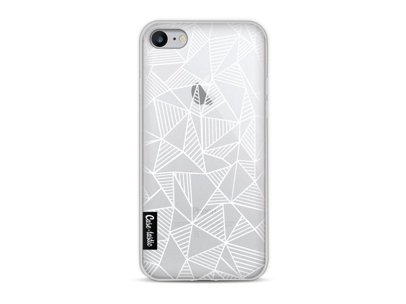 Casetastic Softcover Apple iPhone 8 - Abstraction Lines White Transparent