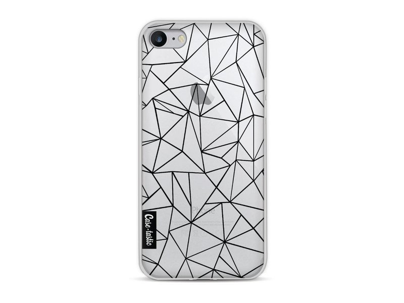 Casetastic Softcover Apple iPhone 8 - Abstraction Outline Black Transparent